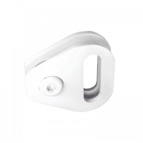 1671MD Mini puxador duplo com transpasse para portas e janelas com um furo