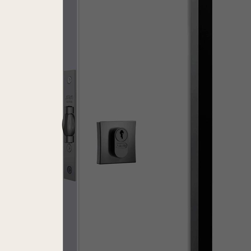 Fechadura 1005 chave simples quadrada black auxiliar STAM