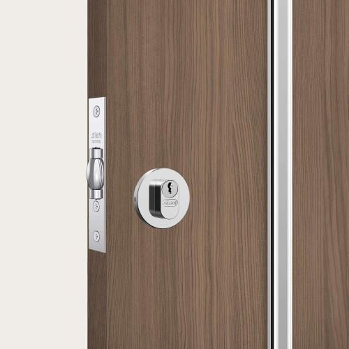 Fechadura 1005 chave simples redonda cromada auxiliar STAM