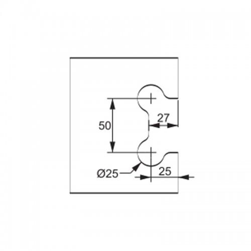 1306al-bc Suporte C/ Miolo P/uniao de 2 Vidros CAPA