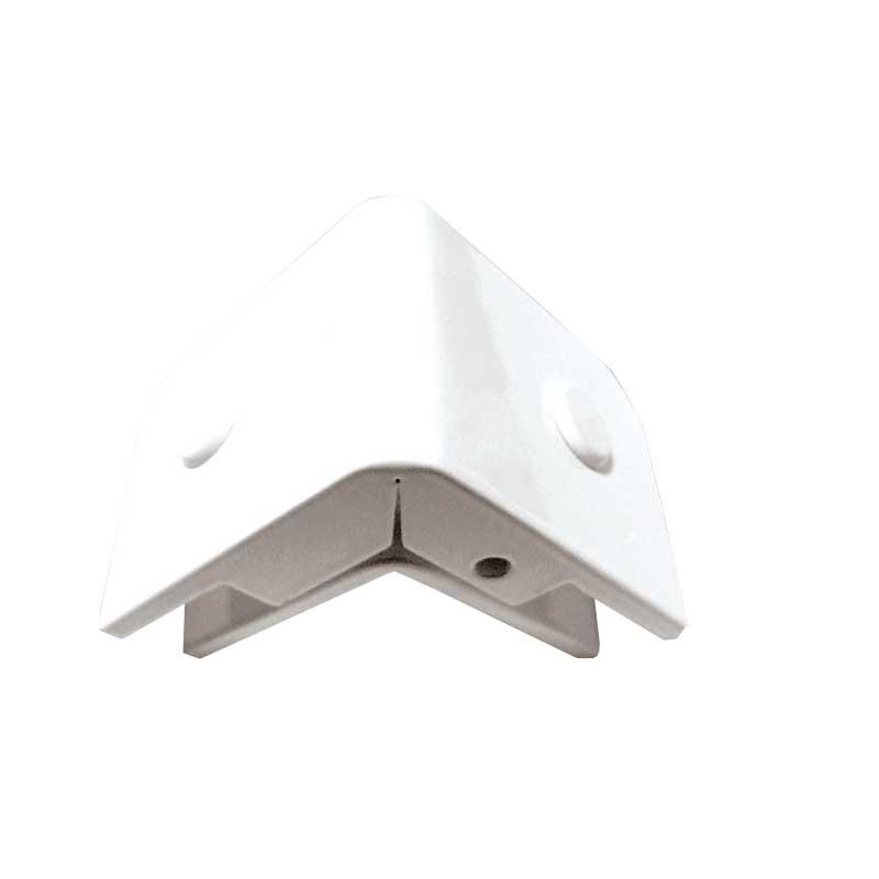1321 Suporte piso/teto com núcleo para união de 2 vidros a 90°