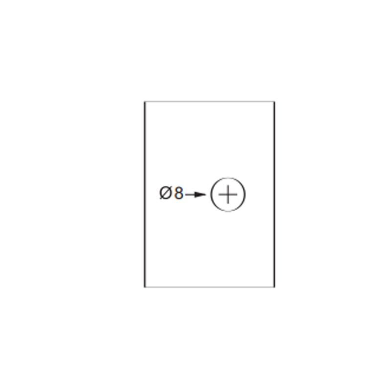 1629aal-bc Puxador para Box 18mm Taça / Duplo