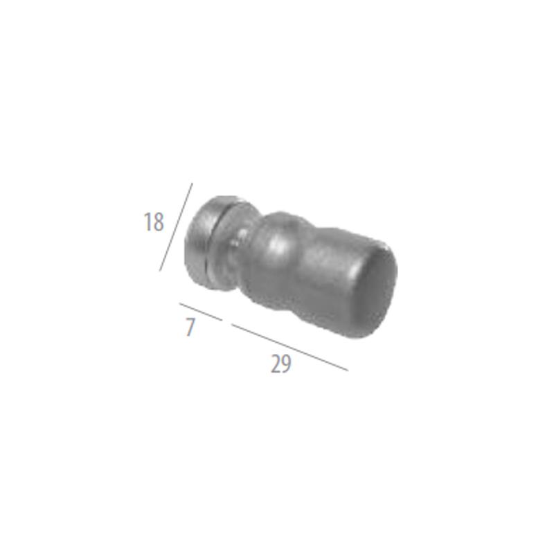 1629jaal-bc Puxador para Box 18mm Meia Taça