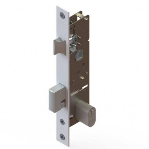 fra-323 fechadura porta de abrir c/ maçaneta branca - udinese