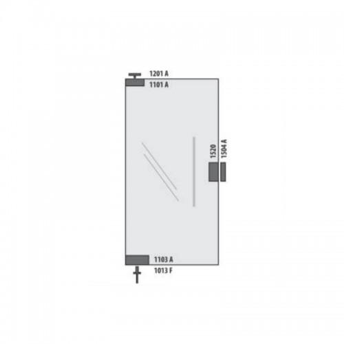KIT01AL Porta Simples Pivotante (CAPA)