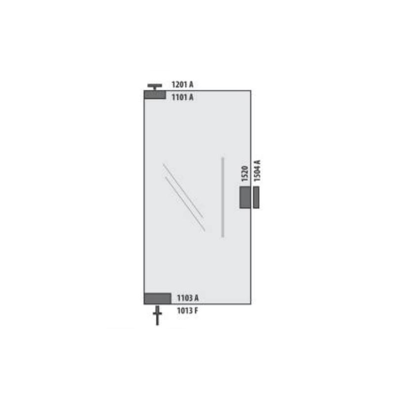 KIT01AL Porta Simples Pivotante (TRADICIONAl)