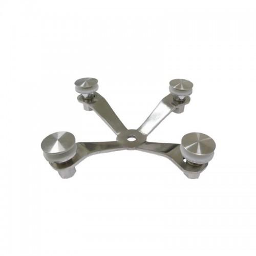Spider - 4 garra de aço inox 304 150MM espessura 5MM POLIDO